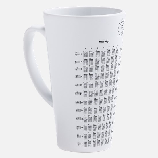 Cute Guitar chords 17 oz Latte Mug