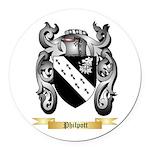 Philpott Round Car Magnet