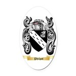 Philpot Oval Car Magnet