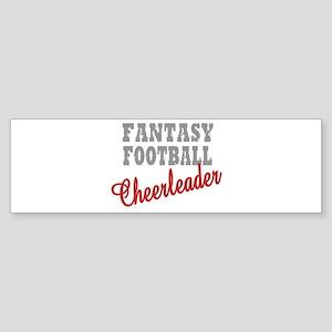 Fantasy Football Cheerleader Bumper Sticker