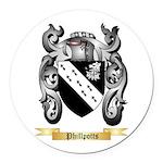 Phillpotts Round Car Magnet