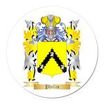 Phillis Round Car Magnet