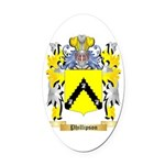 Phillipson Oval Car Magnet
