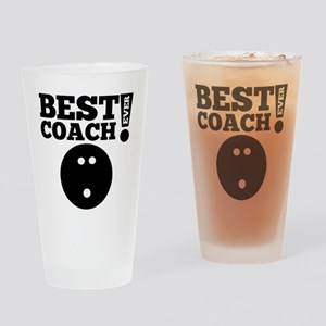 Best Bowling Coach Ever Drinking Glass