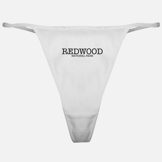 Redwood National Park California RNP Classic Thong