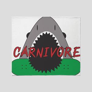 Carnivore Logo Throw Blanket