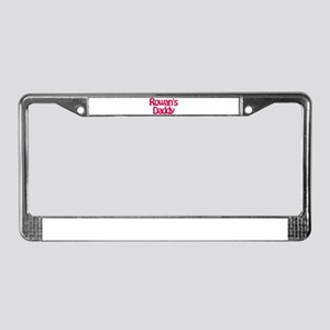 Rowan's Daddy License Plate Frame