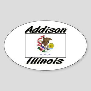 Addison Illinois Oval Sticker