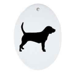 Beagle Dog Oval Ornament