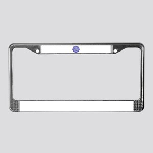 Lotus-OM-BLUE License Plate Frame