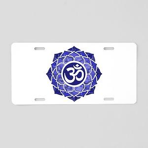 Lotus-OM-BLUE Aluminum License Plate
