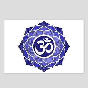 Lotus-OM-BLUE Postcards (Package of 8)