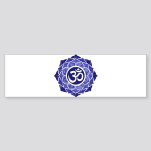 Lotus-OM-BLUE Bumper Sticker