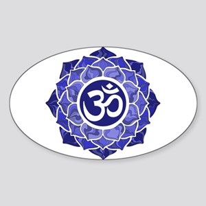 Lotus-OM-BLUE Sticker
