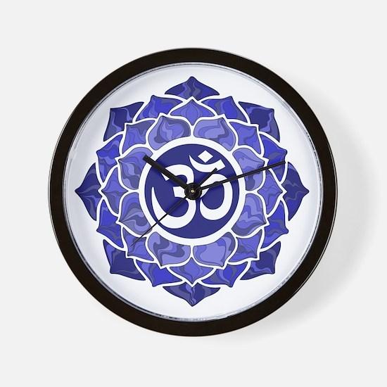 Lotus-OM-BLUE Wall Clock