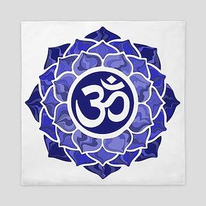 Lotus-OM-BLUE Queen Duvet