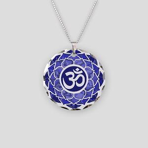 Lotus-OM-BLUE Necklace