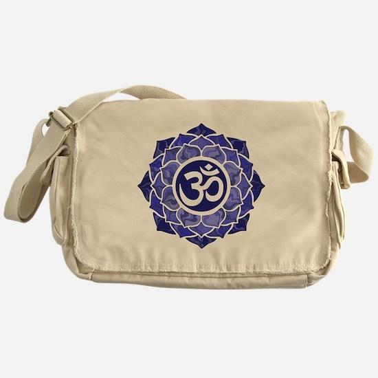 Lotus-OM-BLUE Messenger Bag