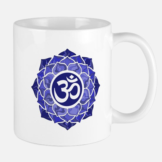Lotus-OM-BLUE Mugs