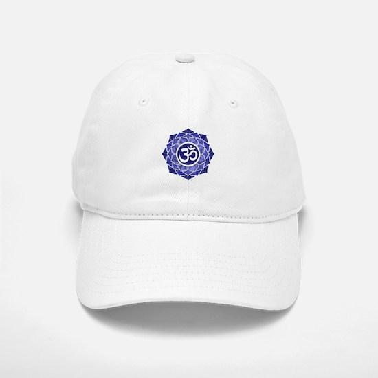 Lotus-OM-BLUE Baseball Baseball Baseball Cap