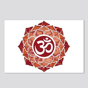 Lotus-OM-Red Postcards (Package of 8)