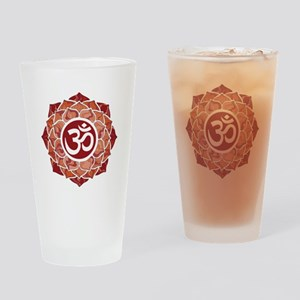 Lotus-OM-Red Drinking Glass