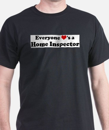 Loves a Home Inspector Ash Grey T-Shirt