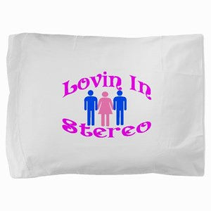 Woman Stereo Pillow Sham