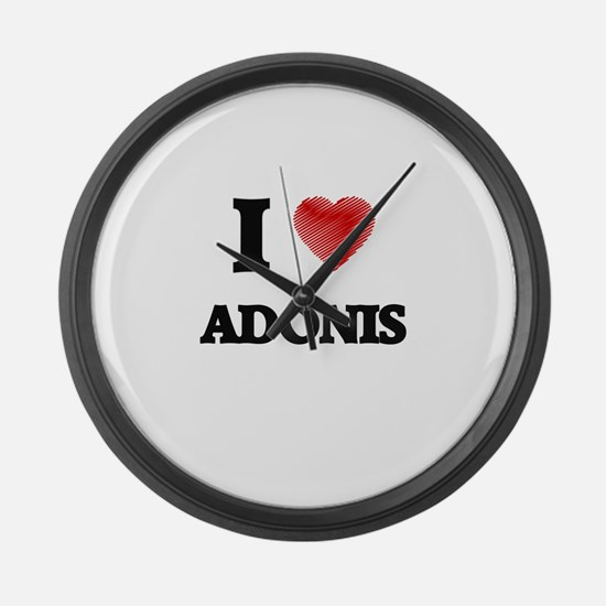 I love Adonis Large Wall Clock
