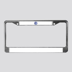 L-YY-Blu License Plate Frame
