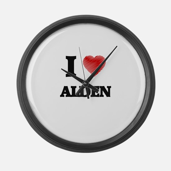 I love Alden Large Wall Clock