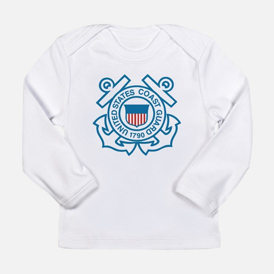 Cute Us coast guard Long Sleeve Infant T-Shirt