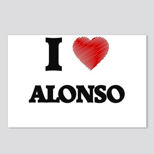 I love Alonso Postcards (Package of 8)