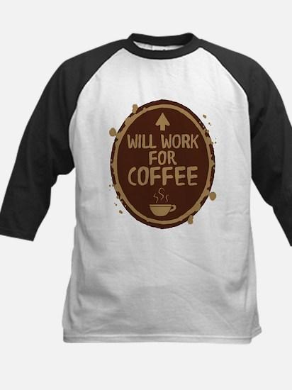 Will Work for Coffee Kids Baseball Jersey