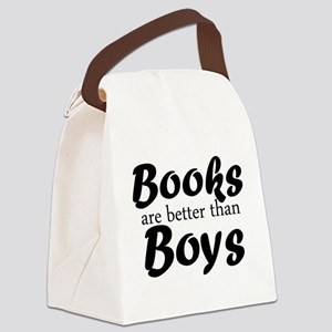 Books Are Better Than Boys Canvas Lunch Bag