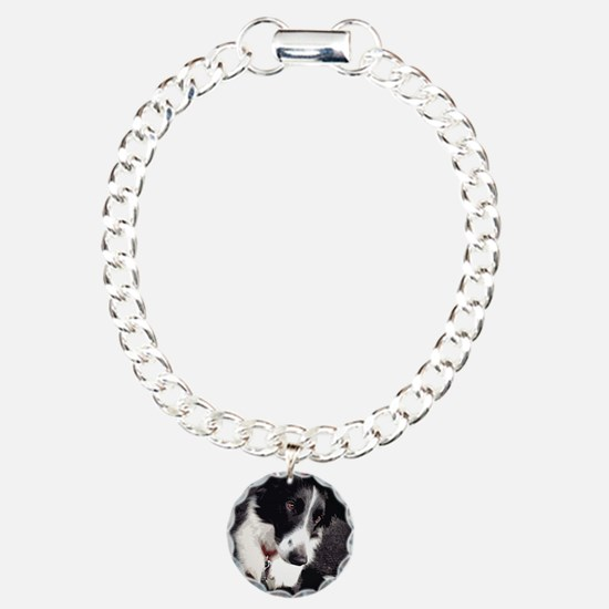 Unique Black border collie Bracelet