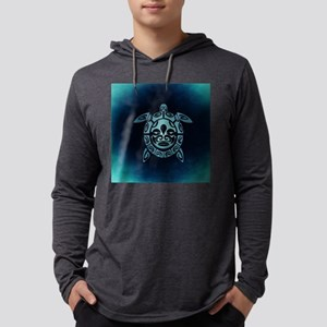 Turquoise Abstract Shell Sea T Long Sleeve T-Shirt