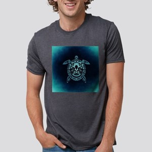 Turquoise Abstract Shell Sea Turtle T-Shirt