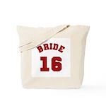 Bride 16 Red Tote Bag