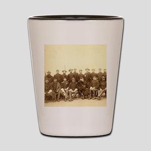 United States Civil War Cavalry Shot Glass