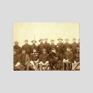 United States Civil War Cavalry 5'x7'Area Rug