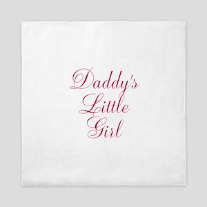 Daddys Little Girl in Pink Queen Duvet