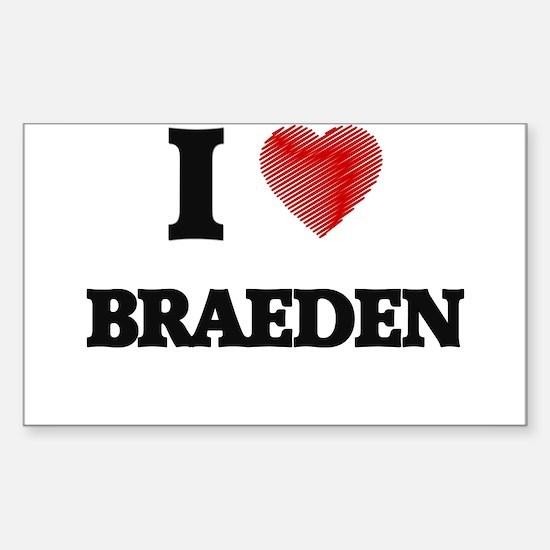 I love Braeden Decal