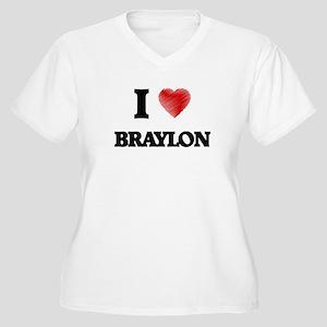 I love Braylon Plus Size T-Shirt