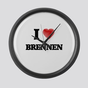 I love Brennen Large Wall Clock