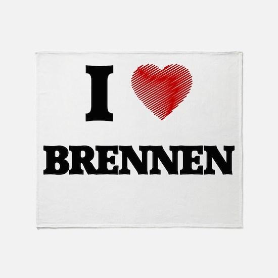 I love Brennen Throw Blanket