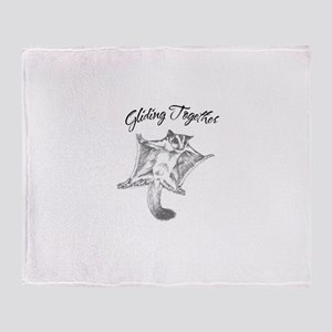 Gliding Together Throw Blanket
