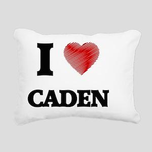 I love Caden Rectangular Canvas Pillow