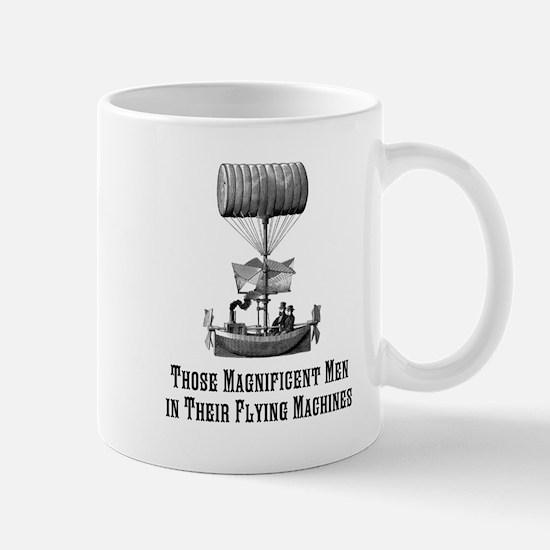 Flying Machine Large Mugs