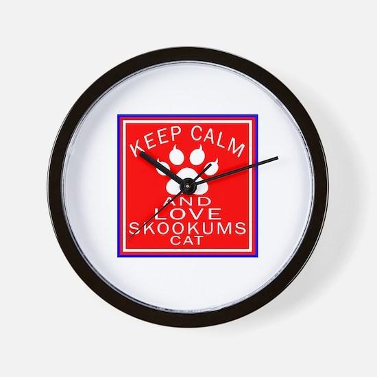 Keep Calm And skookums Cat Wall Clock